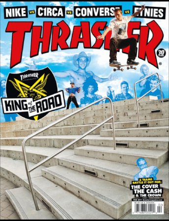Thrasher Skateboard Magazine - Февраль (2011) PDF
