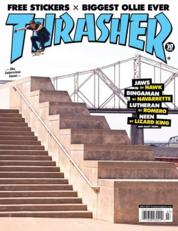 Thrasher Skateboard Magazine - Июль (2011) PDF